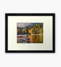 Gorgeous Autumn Landscape - Natural River Retreat Framed Print