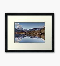 Stunning Lake and Mountains - Gorgeous Nature Print Framed Print