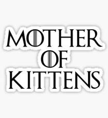 Mother of Kittens Sticker