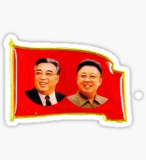 DPRK North Korean Lapel Pin Sticker