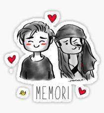 Memori Emoji - black Sticker