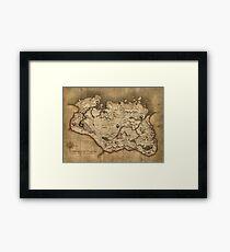 Map of Skyrim (The Elder Scrolls) Framed Print