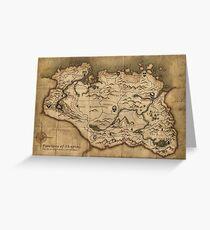 Map of Skyrim (The Elder Scrolls) Greeting Card