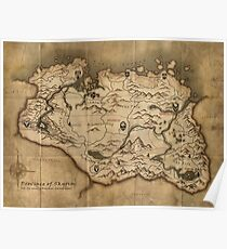 Map of Skyrim (The Elder Scrolls) Poster