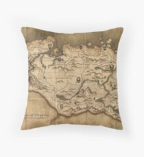 Map of Skyrim (The Elder Scrolls) Throw Pillow
