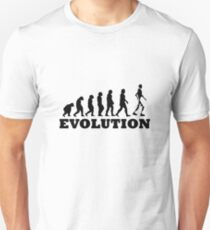 Robot Evolution Funny Slim Fit T-Shirt