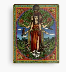 The Goddess Hecate Goddess of Witchcraft and Cross Roads Metal Print