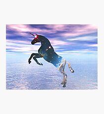 Unicorn of the stars Photographic Print