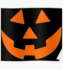 Jack O Lantern Halloween Thanksgiving Christmas Poster