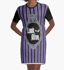 Look Alive - Purple Graphic T-Shirt Dress