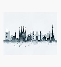 Barcelona Skyline Photographic Print