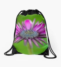 Dreamy African Daisy Drawstring Bag
