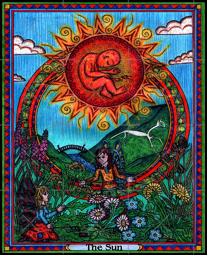 Quot The Sun Card Tarot Quot By Cherrieb Redbubble