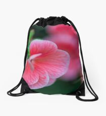 Shy Blushing Floral Tease Drawstring Bag