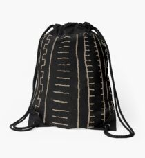 simple african mud cloth Drawstring Bag