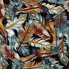 Painted Feathers by swaby