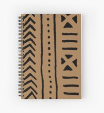 african mud tribal cloth Spiral Notebook