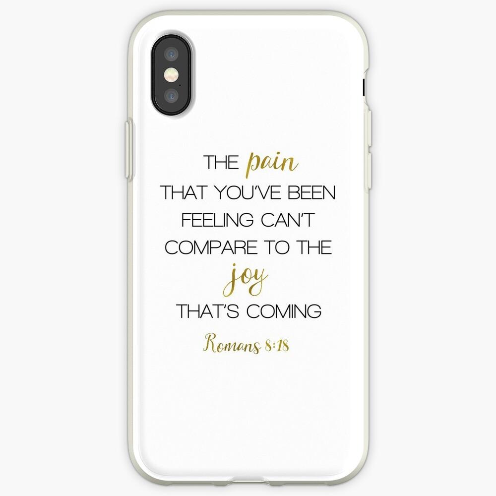 SCHMERZ JOY RÖMER 8:18 iPhone-Hülle & Cover