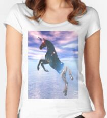 Unicorn of the stars Women's Fitted Scoop T-Shirt