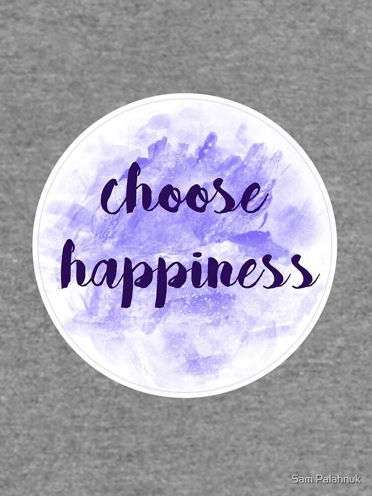 choose happiness sticker | purple watercolor design by sampalahnukart
