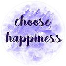 choose happiness sticker | purple watercolor design by Sam Palahnuk