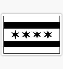 Chicago Flag - Black and White Sticker