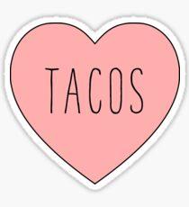 I Love Tacos Heart | Taco Time Sticker