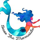 Save The Mermaids Ocean Envirornment  by MyHandmadeSigns