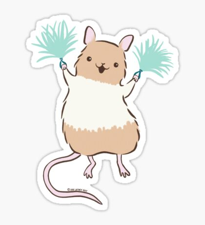 Little Rat Cheerleader - Yay Rats! Sticker