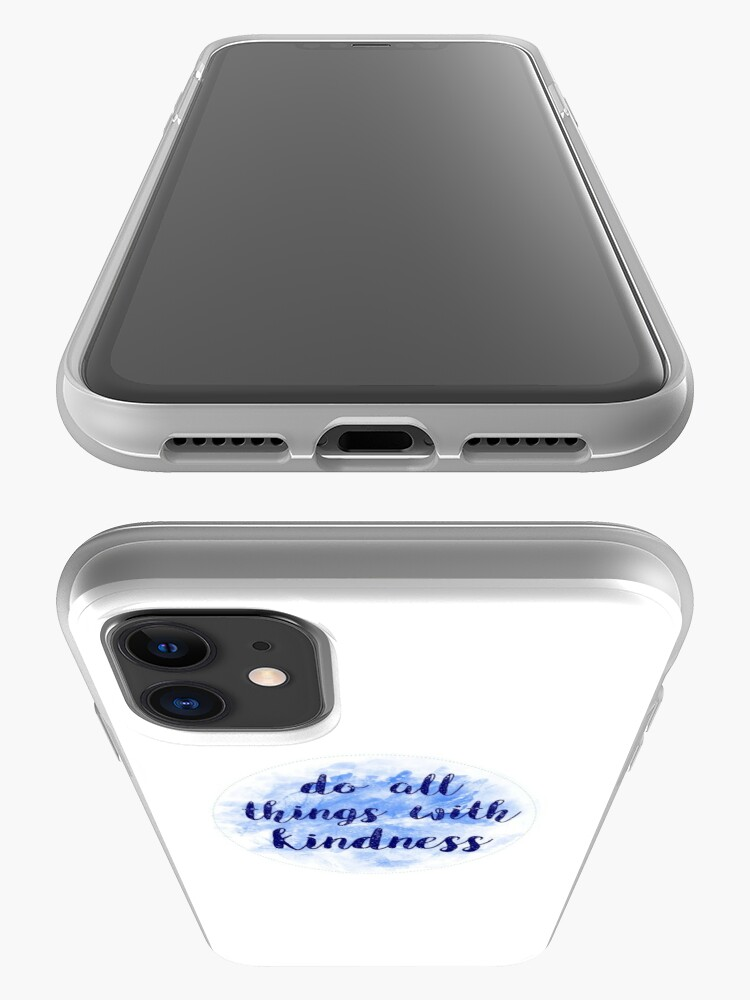 Alternate view of Do all things with kindness sticker | blue watercolor design iPhone Case & Cover