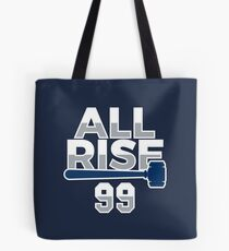 All Rise 99 - All Rise for the Judge NY Yankee Baseball Tote Bag