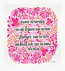 Always Remember – Pink Ombré Palette Photographic Print