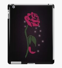 Beauty and the Beast Enchanted Rose Word Art iPad Case/Skin