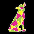 Geometric Coloutful Dog by Jade Damboise Rail