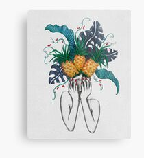 Pineapples are in my head Metal Print