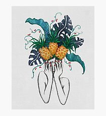 Pineapples are in my head Photographic Print