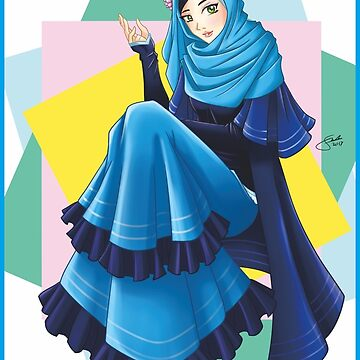 Blue Tosca Hijab Girl by littleseed