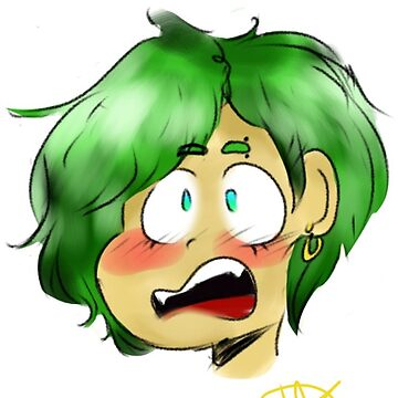 green haired boy  by Prince-Dannie