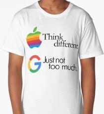 think different, just not too much (google #googlemanifesto) Long T-Shirt