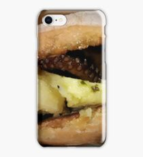 Bread with octopus potatoes and italian pesto iPhone Case/Skin
