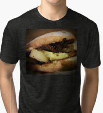Bread with octopus potatoes and italian pesto Tri-blend T-Shirt