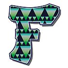Letter F - Pattern  by paintcave