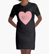 I Love Math Heart Graphic T-Shirt Dress