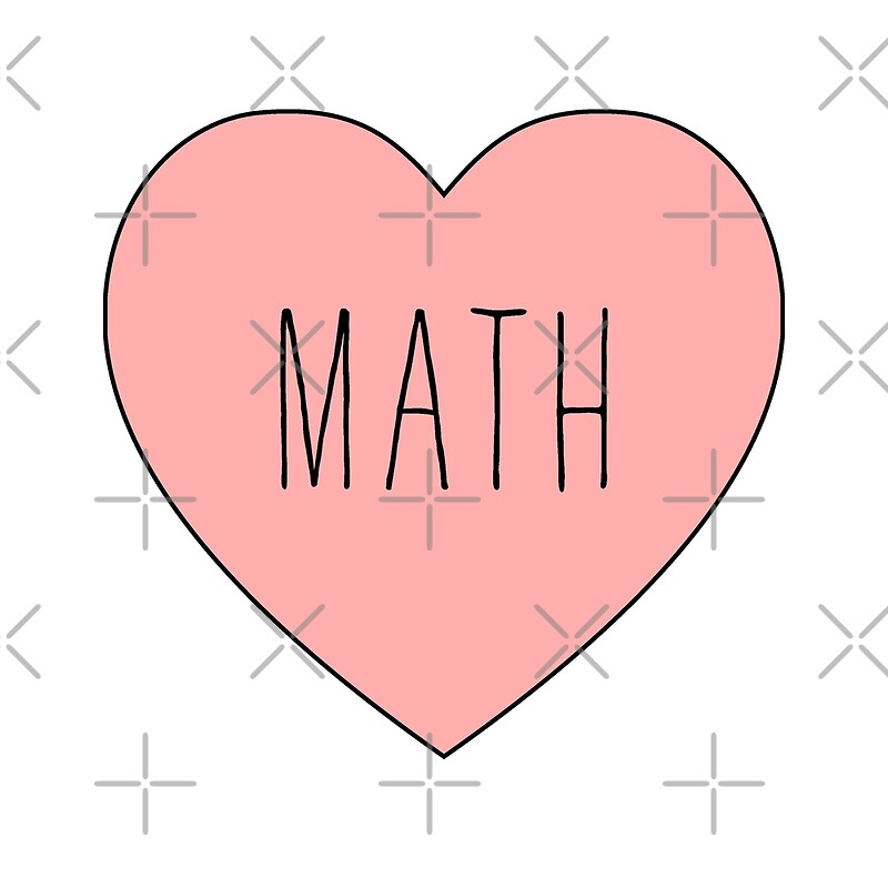 i love math heart posters by thepinecones redbubble