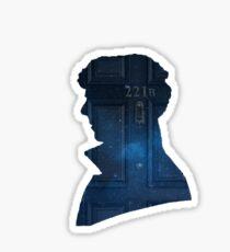 Sherlock - galaxy 221b silhouette  Sticker