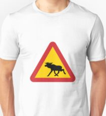 Moose Road Sign T-Shirt