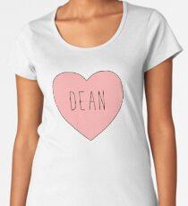 I Love Dean Heart | Supernatural Women's Premium T-Shirt