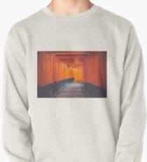 Japanese Gate Pixel Glitch  Pullover Sweatshirt