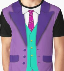 Funky Colors Suit Tie and Vest Graphic T-Shirt