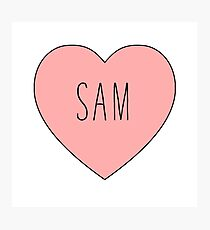 I Love Sam Heart Photographic Print